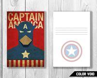 "Открытка №832 ""Капитан Америка"""
