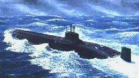 """Подводный крейсер """"U.S.S. Typhoon"""" (масштаб: 1/350)"""