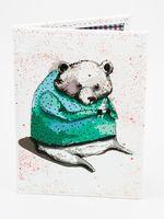 """Обложка на паспорт """"Медведь и зайчик"""""""