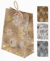 """Пакет бумажный подарочный """"Снежинки"""" (в ассортименте; 11,5х16х6 см; арт. ABD001400)"""