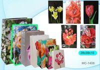 """Пакет бумажный подарочный """"Цветы"""" (в ассортименте; 28x39x10 см; арт. МС-1406)"""