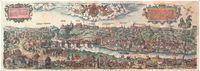 Гродна, 1568. Каляровая рэканструкцыя гравюры (97х34 см)