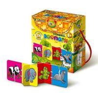 Зоопарк (3D-домино, 28 двусторонних карточек)