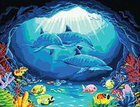 """Картина по номерам """"Дельфины"""" (400x500 мм; арт. MG173)"""