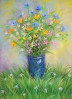 """Картина из шерсти """"Полевые цветы"""""""