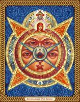 """Алмазная вышивка-мозаика """"Всевидящее Око Божие"""" (280х220 мм)"""