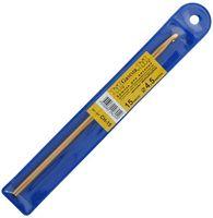 Крючок для вязания (желтый; металл; 4.5 мм)