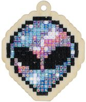 "Алмазная вышивка-мозаика ""Брелок. Пришелец"" (56х67 мм)"