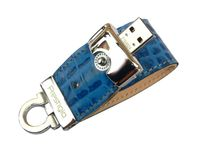 USB Flash Drive 8Gb Prestigio Leather Flash (blue) PLDF08CRBLA
