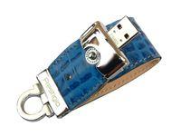 USB Flash Drive 8Gb Prestigio Leather Flash (blue) PLDF08CRBLA