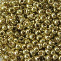 Бисер №18151 (оливковый металлик, перламутровый; 10/0)