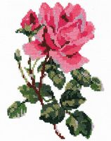 """Вышивка крестом """"Роза"""" (200x140 мм)"""