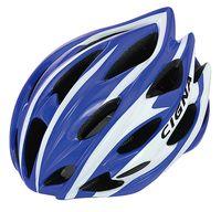 """Шлем велосипедный """"WT-015"""" (чёрный/синий/белый)"""