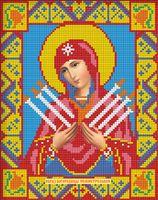 """Алмазная вышивка-мозаика """"Икона Семистрельная Богородица"""" (220х280 мм)"""