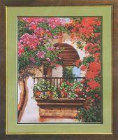 """Вышивка бисером """"Цветы на балконе"""""""