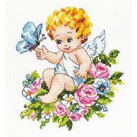 """Вышивка крестом """"Ангел нашей любви"""" (120x150 мм)"""