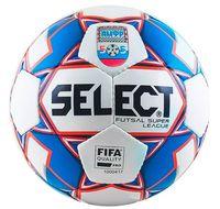 """Мяч футзальный Select """"Futsal Super League АМФР FIFA"""" №4 (белый/синий/красный)"""