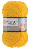 """Пряжа """"YarnArt. Baby №586"""" (50 г; 150 м; желтый)"""