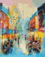 "Картина по номерам ""Улочки Парижа"" (400х500 мм)"
