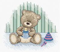 """Вышивка крестом """"Медвежонок Бруно"""" (175х155 мм)"""