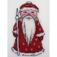 """Вышивка крестом """"Дед Мороз"""" (95х145 мм)"""