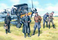"Набор миниатюр ""Пилоты и техники ВВС Германии 1939-45г."" (масштаб: 1/48)"