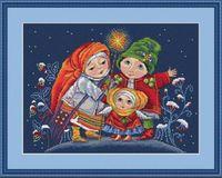 """Вышивка крестом """"Рождественская звезда"""" (270х200 мм)"""