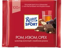 """Шоколад молочный """"Ritter Sport"""" (100 г; ямайский ром, изюм и лесной орех)"""