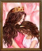 """Алмазная вышивка-мозаика """"Моя принцесса"""" (300х400 мм)"""