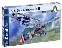 """Сборная модель """"Истребитель S.E.5a и Albatros D.III"""" (масштаб: 1/72)"""