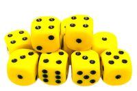 """Набор кубиков D6 """"Опак"""" (12 мм; 12 шт.; желто-черный)"""