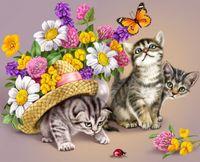 "Алмазная вышивка-мозаика ""Три котенка"" (400х500 мм)"