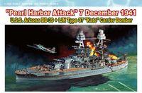 """Набор миниатюр """"U.S.S. Arizona BB-39 & IJN Type 97 Kate Carrier Bomber"""" (масштаб: 1/700)"""