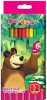 """Набор карандашей цветных """"Маша и Медведь"""" (12 цветов)"""