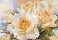 """Вышивка крестом """"Белые розы"""""""