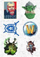 """Набор виниловых наклеек №583 """"World of Warcraft"""""""