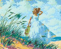 """Картина по номерам """"Артур Сарнофф. Прогулка у моря"""" (400х500 мм)"""