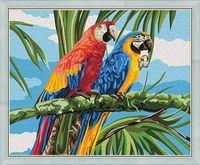 """Картина по номерам """"Попугаи Ара"""" (400х500 мм)"""