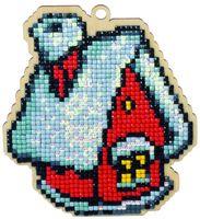 "Алмазная вышивка-мозаика ""Брелок. Зимний домик"" (103х115 мм)"