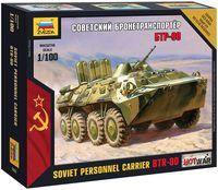 "Сборная модель ""Советский бронетранспортер БТР-80"" (масштаб: 1/100)"