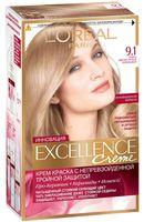 """Крем-краска для волос """"Excellence"""" (тон: 9.1, очень светло-русый пепельный)"""