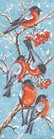 "Вышивка бисером ""Чудо-птички снегири"""