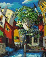 "Картина по номерам ""Мигель Фрейтас. Венецианский дворик"" (500х400 мм)"