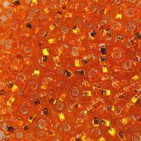 Бисер прозрачный с серебристым центром №97000 (оранжевый; 10/0)