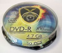 Диск DVD-R 4.7Gb 16x Esperanza Extreme CakeBox 10