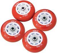 Набор светящихся колес для роликов (4 шт.; ABEC-5; красный)