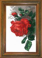 """Вышивка крестом """"Роза"""" (310х190 мм)"""
