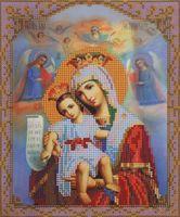 """Вышивка бисером """"Пресвятая Богородица. Достойно есть"""" (190х230 мм)"""
