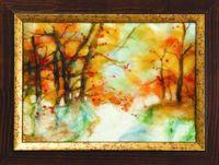"""Картина из шерсти """"Осенний свет"""""""