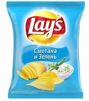 """Чипсы картофельные """"Lay's"""" (225 г; сметана и зелень)"""